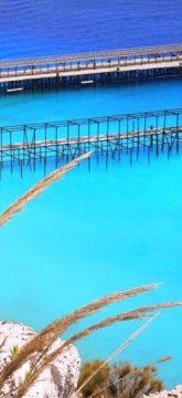 Muelle en Lipari, Islas Eolias